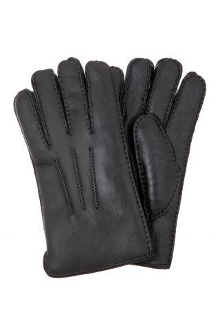 """Перчатки мужские """"Целые напалан"""" чёрные"""