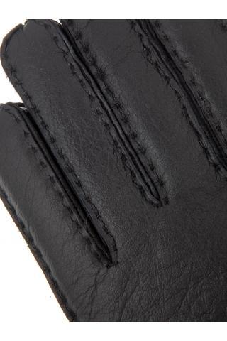 """Перчатки из овчины мужские """"С манжетом"""" чёрные"""