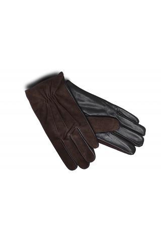 """Перчатки из кожи мужские """"М 18-31"""" коричневые"""