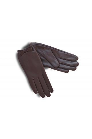 """Перчатки кожаные женские """"Л 294"""" коричневые"""
