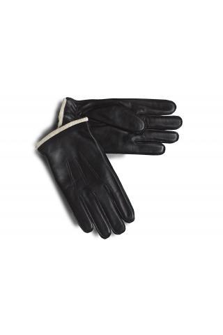 """Перчатки из кожи мужские """"М 17-22"""" чёрные"""