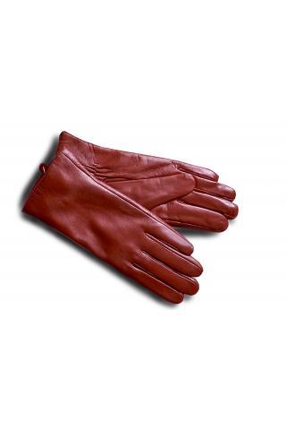 """Перчатки кожаные женские """"4 ВТ"""" красные"""