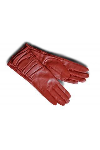 """Перчатки кожаные женские """"Л 940"""" красные"""