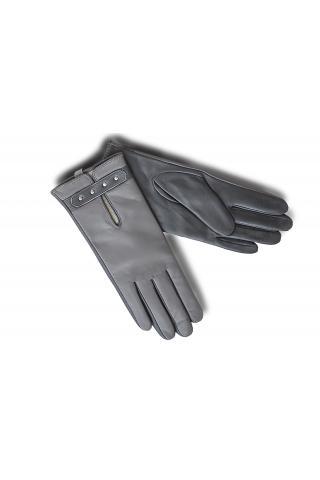"""Перчатки кожаные женские """"Л 18-10"""" серые"""