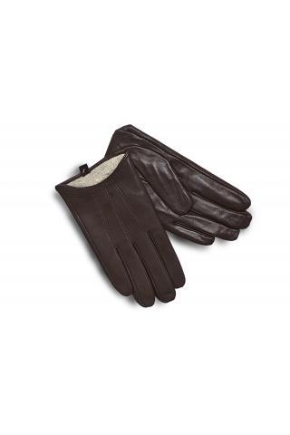 """Перчатки из кожи мужские """"М 18-09"""" коричневые"""