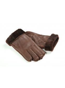 """Перчатки из овчины мужские """"С манжетом"""" коричневые"""