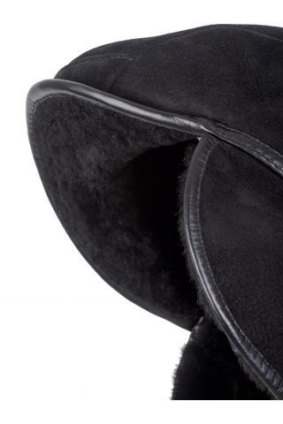 Кепка из овчины м.132 черная