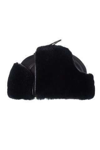 Ушанка из овчины м. 21 черная
