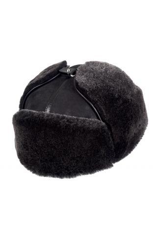 Ушанка из овчины м. 21 черная брисса