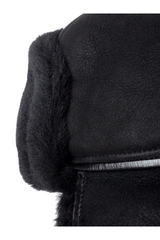 Ушанка-финка из овчины м. 22 черная