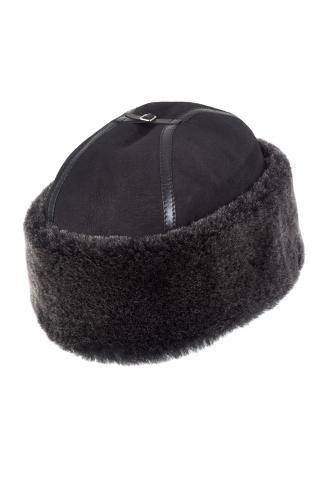Шапка-боярка  из овчины м. 801 черная брисса