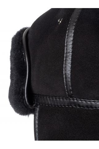 Шапка-финка из овчины м.950 темно-коричневая