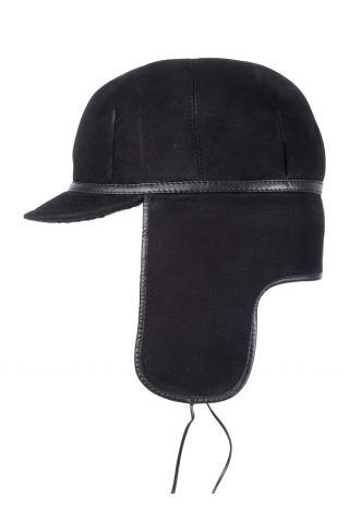 Шапка-ушанка с козырьком м.970 черная