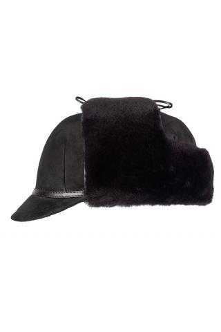 Шапка-ушанка с козырьком м.970 темно-коричневая