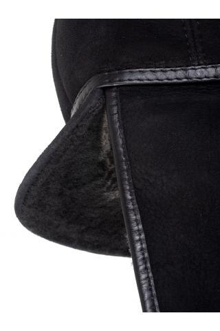 Шапка-ушанка с козырьком м.970 черная брисса