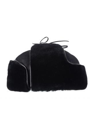 Ушанка из овчины м.980 черная