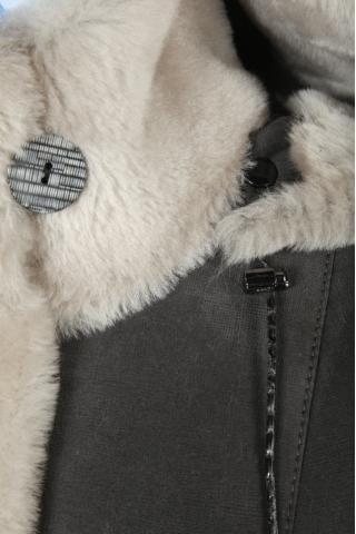 Женская дубленка СК 80-12 серый