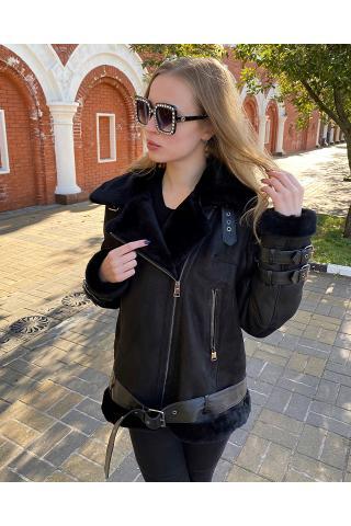 Женская дубленка Авиатор модель 2008