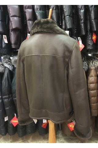 Мужская дублёнка Авиатор 1001 коричневая