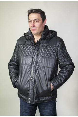 Куртка кожаная с синтепоном 229