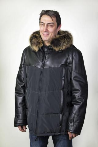 Куртка кожаная с синтепоном 328