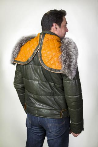 Куртка кожаная с синтепоном 5655