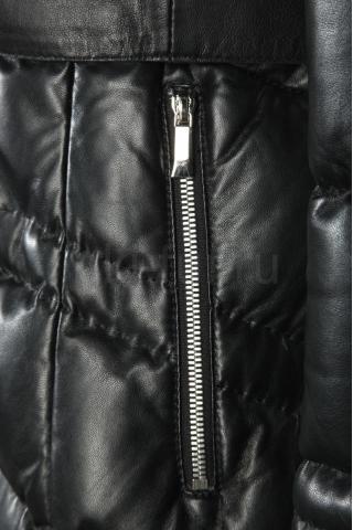 Кожаный пуховик 31088