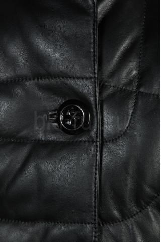 Кожаный пуховик 31098