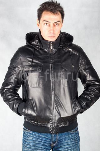 Кожаная куртка 81038 без капюшона