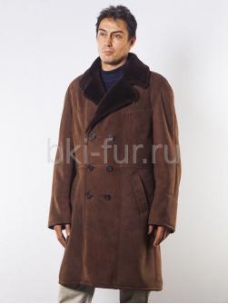 Мужская дублёнка 7015 коричневая